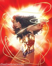 "Adam Hughes Wonder Woman ""Strength"" SDCC Limited Edition Comic art Print SIGNED"