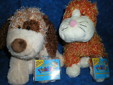 Webkinz~ RARE LOT BROWN CHEEKY DOG & CHEEKY CAT ~NWT~ FREE SHIPPING ~ COLLECTORS