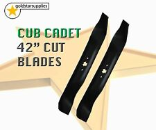 """2 x Ride On Mower Blades - 42"""" (6 point star) To suit Cub Cadet Ride ons"""