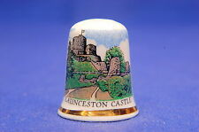 Launceston Castle, Cornwall Exclusive China Thimble B/170