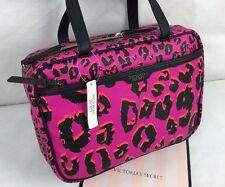 Victorias Secret Travel Case Pink Cosmetic MakeUp Organizer Bag Leopard NWT