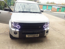 LANDROVER DISCOVERY 3 4 SMD LED HEADLIGHT CONVERSION DRL WHITE FACELIFT RINGS