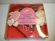 NEW Wilton From the Heart 4 piece cookie cutter set