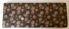 Henry Glass Buggy Barn Iced Mocha Brown Cotton Fabric 1905 Retired Flowers