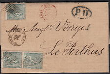 Spain Cover to France    Rare Rate Frontier Gerona To Perthus