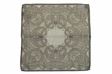 Battisti Pocket Square Light grey bandana paisley, pure wool