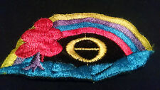 Vintage, Embroidered, Ecology Symbol / Rainbow Patch, Hippie, 70s, earth first