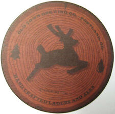 OLD TOWN BREWING COMPANY Beer COASTER Mat with DEER, Portland, OREGON in 2014