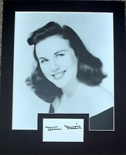 DEANNA DURBIN Signed 12x10 Photo Display CAN'T STOP SINGING COA