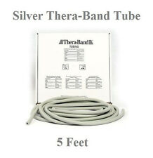 Thera-Band Silver,Super Heavy, Theraband Tube / Tubing, 5 Feet in PolyBag - New!