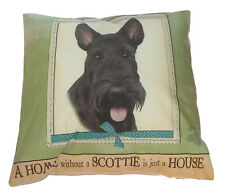 Scottie Throw Pillow A Home Without is Just a House Dog Paw New Scottish Terrier