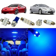 4x Blue LED lights interior package kit for 2000-2005 Toyota Celica TC6B