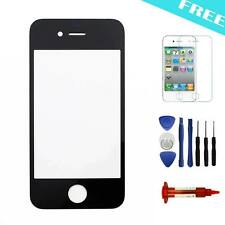 "For Apple iphone 4/4s  Black Front Screen Outer Glass Lens 3.5"" Part + LOCA(5ML)"