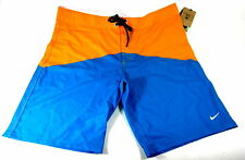 NIKE BOARD SHORT ORANGE/AQUA MEN'S SZ 38 IMPORT AUTHENTIC POLYESTER/SPANDEX NEW