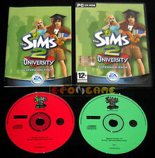 THE SIMS 2 UNIVERSITY Expansion Pack Pc Versione Ufficiale Italiana ••• COMPLETO