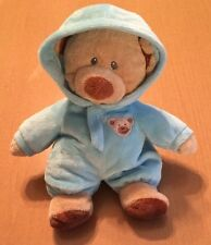 Ty Pluffies Brown Bear In Light Blue Pajamas from 2012
