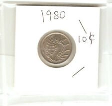 Offer Singapore 10 cents 1980  Fish coin  lustre/high grade! ??