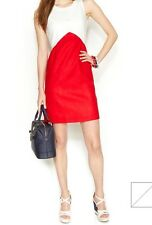 NWT ZOOEY DESCHANEL FOR TOMMY HILFIGER WOMENS FORMULA ONE LINEN DRESS, SIZE 6