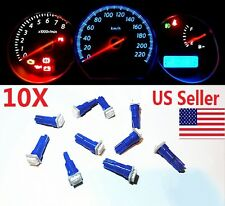10x T5 Blue Car 5050 SMD 1LED Instrument Dashboard Gauge Mini-Wedge Bulb light