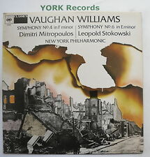 614323 - VAUGHAN WILLIAMS - Symphony No 4 & 6 MITROPOULOS / STOKOWSKI - Ex LP