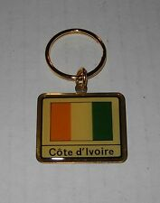 Wholesale Lot Of 10 Ivory Coast (Cote d'Ivoire) Flag Metal Keychain, BRAND NEW