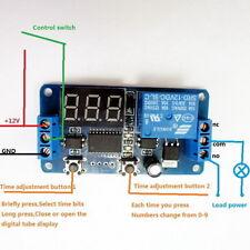 DC 12V LED Display Digital Delay Timer Control Switch Module PLC Automation GU