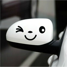 Black Smile Face Decorative Decal Sticker For Car SUV Pickup Side Mirror New