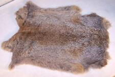 6 NATURAL GREY GENUINE RABBIT SKIN new solf tan hide fur pelt craft skins bunny