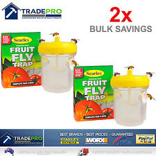2x Fruit Fly Trap Searles® Ultimate with Wick Professional FruitFly Wasp Catcher