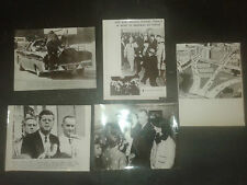 LOT 5 PHOTOS DE PRESSE assassinat JF  Kennedy - Oswald - RUBY - PAPPAS  CORNALLY