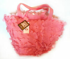 Juicy Couture Pink Jelly Rubber Flowers Summer Beach Bag - YHRU1094 - (VHB24)