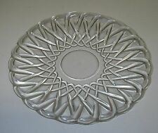 """Indiana Glass PRETZEL #622 Clear Bread Butter Plate 5 3/4""""  Mid-Century."""