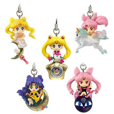 5pcs Twinkle Dolly Sailor Moon Princess Cerenity Small Black Lady Figur Keychain