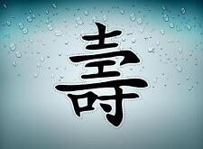 Sticker adesivo adesivi auto tuning segno chinese kanji simbolo lunga vita r2