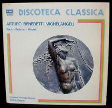 Mozart Concerto 15 Bach Brahms Benedetti-Michelangeli Gracis LP M, CV NM -