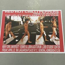 RED HOT CHILI PEPPERS - CONCERT POSTER - NEW YORK FRIDAY 22ND APRIL  (A3 SIZE)