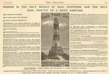 1882 ADVERT ENOS FRUIT SALTS LIGHTHOUSE