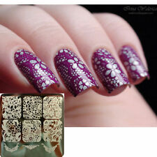 Nail Art Stamp Ongle stamping plate Template Image Dentelle Plaque Y003 6x6cm