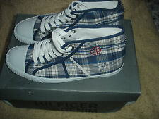 Tommy Hilfiger Men's Thompson 6 Hi-Top Trainer Blue/Hilfiger Check- 8 UK