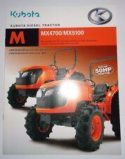 *Kubota Dealers MX4700 MX5100 Tractor Sales Brochure literature advertising ad