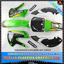 3M KLX110 STICKERs DECALS110/125/140/150/160/200 CC PIT BIKE ATOMIK PITPRO KX65