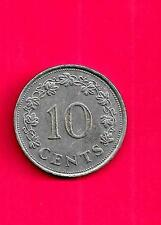 MALTA  MALTESE KM11 1972 VF-VERY FINE-NICE LARGE OLD 10 CENT COIN