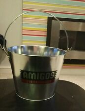 AMIGOS TEQUILA  BEER GALVANISED  ICE BUCKET - FREE POSTAGE home pub/bar/mancave