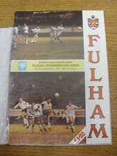 22/02/1992 Fulham v Peterborough United  . Item appears to be in good condition