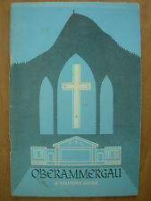VINTAGE TOURIST BROCHURE VISITORS GUIDE OBERAMMERGAU GERMANY 1970 PASSION PLAY