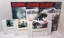 Final Fantasy IV, V, VI / 4, 5, 6 - English SNES Translation NTSC - FF White