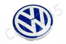 Genuine VW New Beetle Jetta 55mm White & Blue Wheel Center Cap 1998-2005