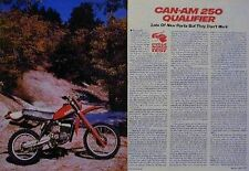 CAN-AM 250 QUALIFIER Motorcycle Test Article 1982