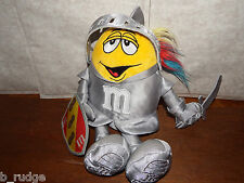 RARE Knight M&M Peanut Yellow soft plush toy figure sword and shield from