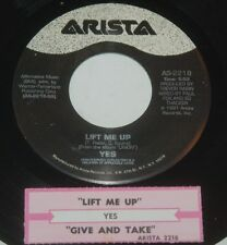 Yes 45 Lift Me Up / Give & Take  w/ts  EX to NM